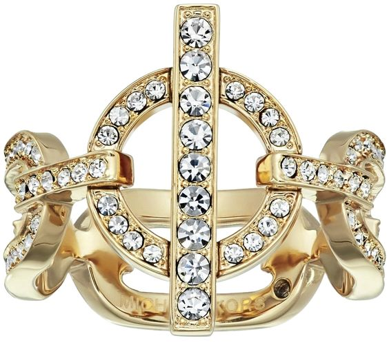Michael Kors Cityscape Women Ring Gold Tone Crystal Pave Size 7. Get the lowest price on Michael Kors Cityscape Women Ring Gold Tone Crystal Pave Size 7 and other fabulous designer clothing and accessories! Shop Tradesy now