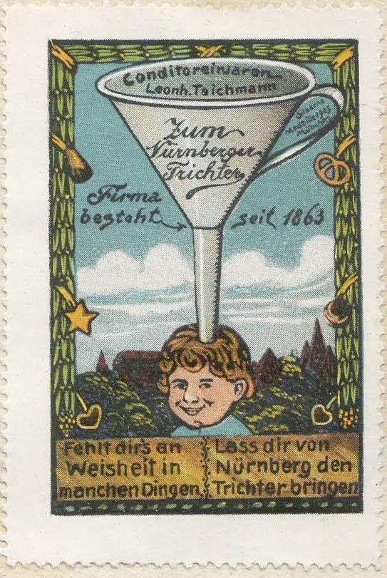 Nuremberg Funnel - ad stamp 1910 - Nuremberg Funnel - Wikipedia, the free encyclopedia