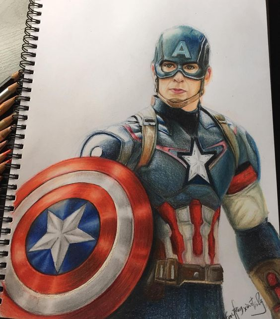 Pin By Drawing Everything On Crafts Drawings And Paintings Captain America Art Captain America Drawing Marvel Artwork