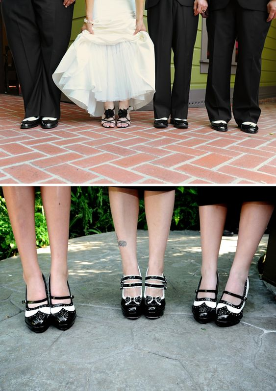 Black and white 1940's theme ideas.  The shoes! Spats for the ladies and the gents.