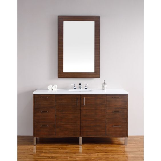 James Martin Furniture Metropolitan American Walnut 60-inch Single Vanity