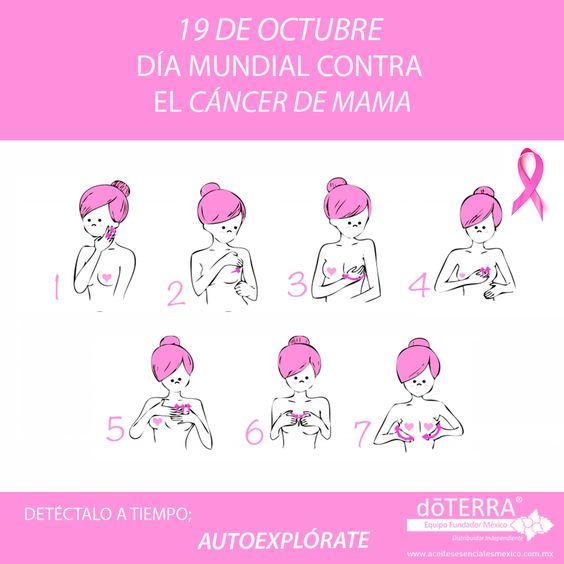 auto explórate y detecta a tiempo  el cáncer de mama.
