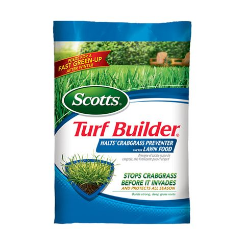 Scotts Turf Builder With Halts Crabgrass Preventer 40 05 Lb 15000 Sq Ft 30 0 4 Fertilizer Lowes Com Crab Grass Turf Builder Lawn Food