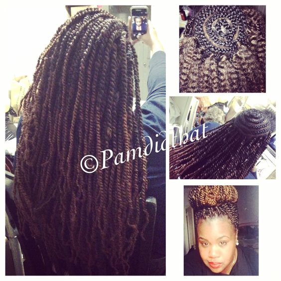 New do alert!! Crochet boxbraids.box-braided (twisted) the perimeter ...