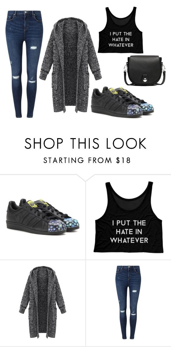 """Sin título #116"" by daniv2000 on Polyvore featuring moda, adidas Originals, Miss Selfridge y rag & bone"