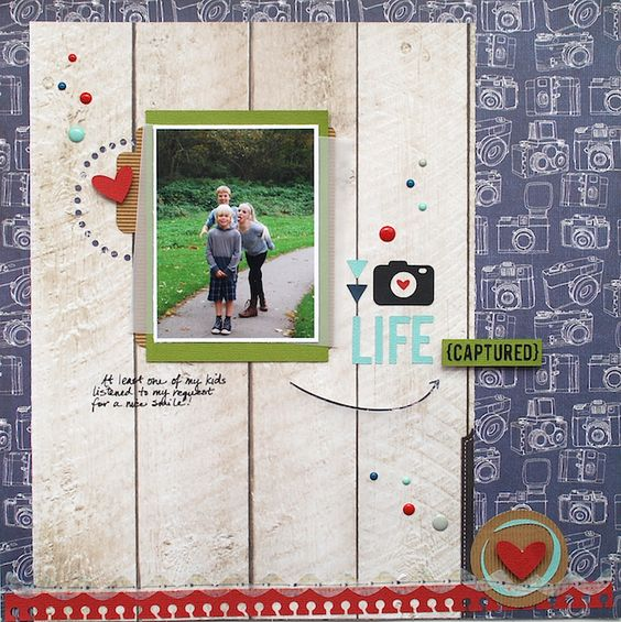 captured scrapbook layout | Cari Locken for Silhouette