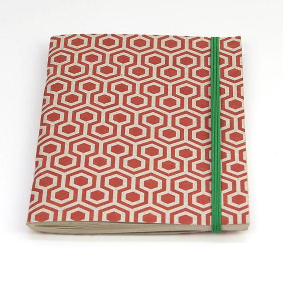 Grafika A6 Notebook red/white