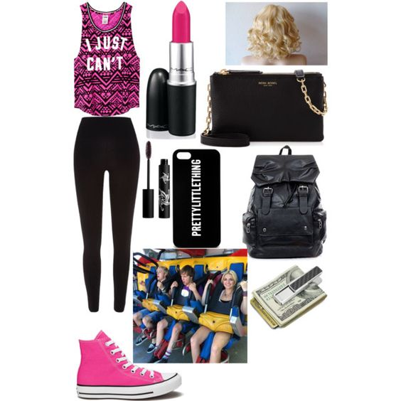 A fashion look from March 2015 featuring Victoria's Secret PINK tops, River Island leggings and Converse sneakers. Browse and shop related looks.