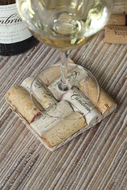 Wine Cork Coasters #DuVino #wine www.vinoduvino.com