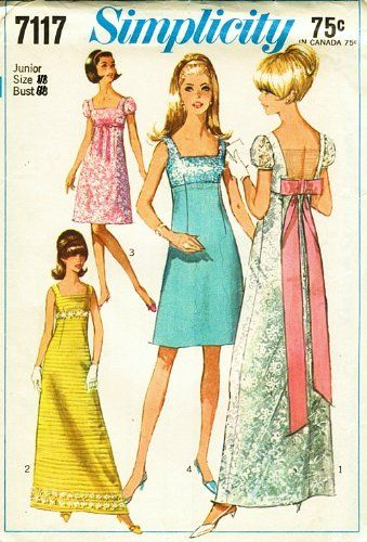 1960s Dress Pattern McCalls 8335 Mod Yoked A Line Day Evening Dress ...