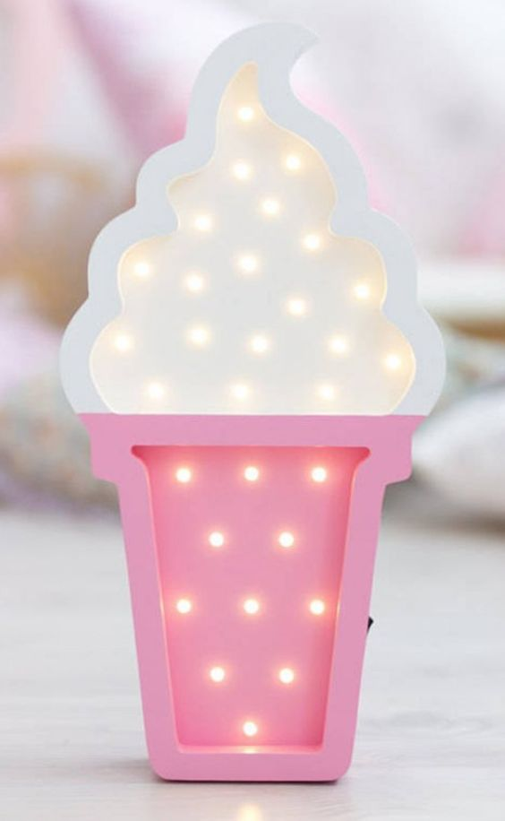 Cute ice cream night lights