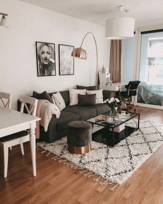 Just Like Living In A House Living In An Apartment Has Its Pros And Cons Pro Living Room Decor Apartment Small Apartment Living Room Living Room Decor Modern