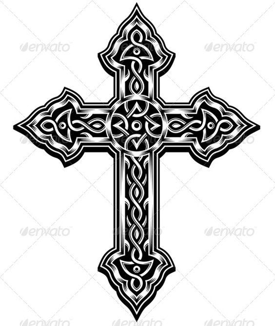 ornate cross vector christian crosses gothic crosses and design elements. Black Bedroom Furniture Sets. Home Design Ideas