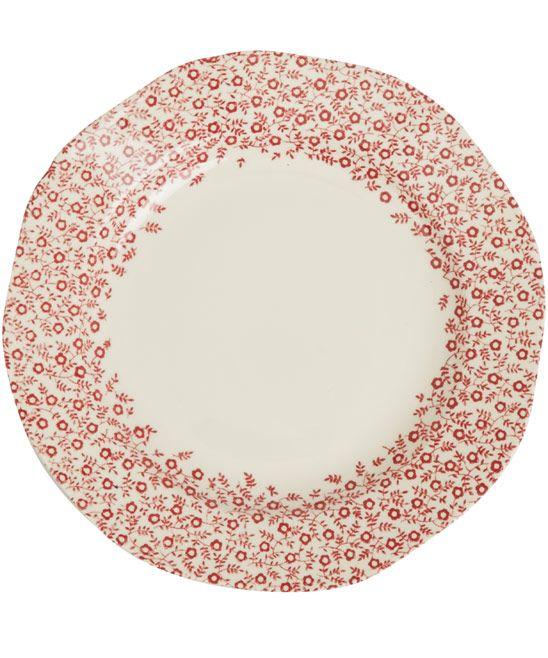 Burleigh Red Felicity Earthenware Plate 19cm
