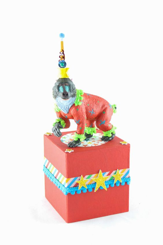 Circus Animal Stand Medium Red by PaintedParade on Etsy
