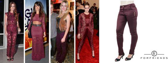 O bordô ou burgundy é a nova sensação nesse inverno e várias famosas já adotaram a cor. Essa calça skinny da Studio 21 na cor bordô fica linda com qualquer look!