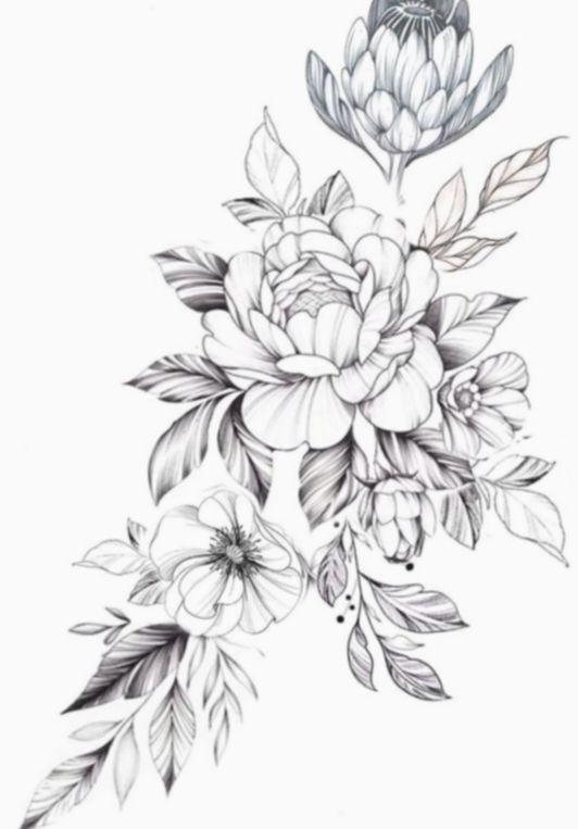 Drawing Flowers Tattoo Design Eyesketch Drawingeyes Drawingofeyes In 2020 Floral Thigh Tattoos Flower Tattoo Drawings Tattoo Artists