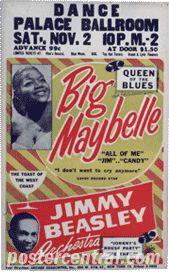 Big Maybelle concert poster