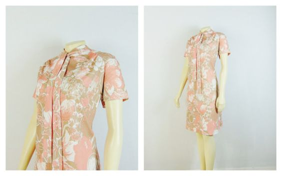 Vintage Dress 60s 70s City Scene Floral by 2sweet4wordsVintage