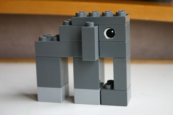 Thema jungle / oerwoud: duplo olifant