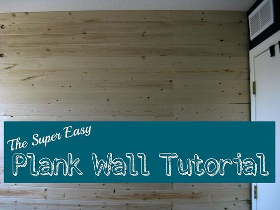 Learn how to create a plank wall with this super easy tutorial from Inspiration for Moms.