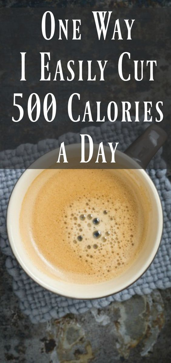 1 way I easily cut 500 calories a day. Weight advice and inspiration.