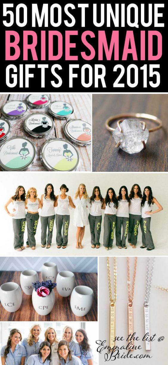 Unique Wedding Gift Ideas For Bridesmaids : ... gifts/bridesmaid-gift-ideas-2015/ Shabby Chic Wedding Ideas