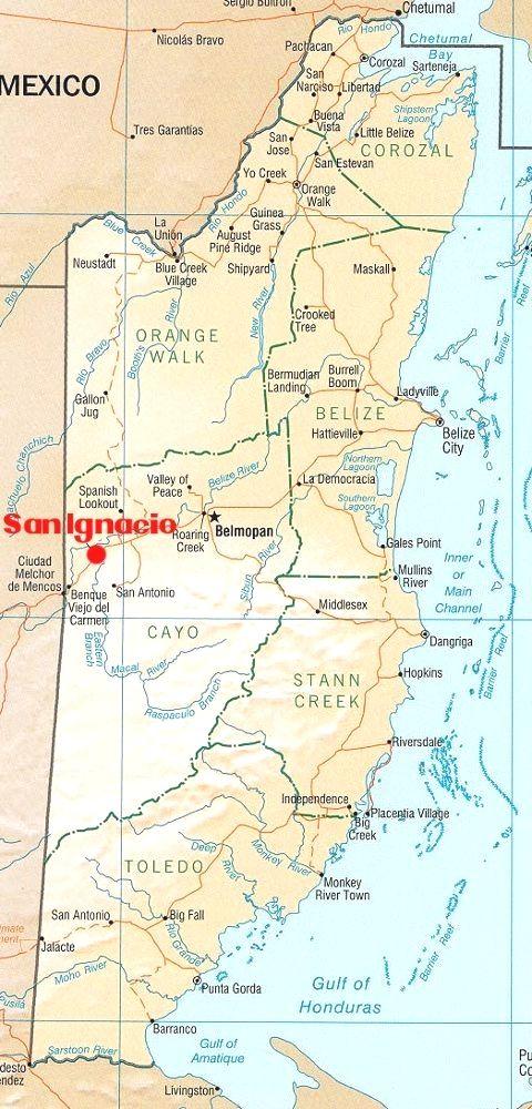 map san ignacio belize Belize City Map Of Belize San Ignacio Belize map san ignacio belize