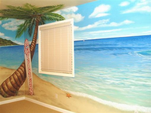 beach mural for kids and beaches on pinterest. Black Bedroom Furniture Sets. Home Design Ideas