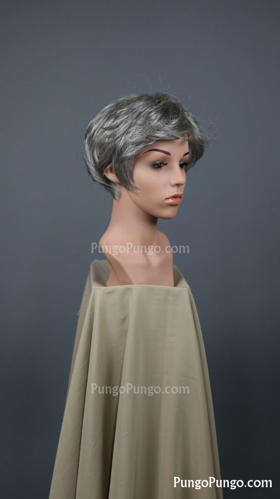 Grey Pixie Wig | Carol Peletier The Walking Dead Short Wig | Silver Gray Steampunk Anime Cosplay Fashion Boy Cut Old Halloween Costume by PungoPungo on Etsy