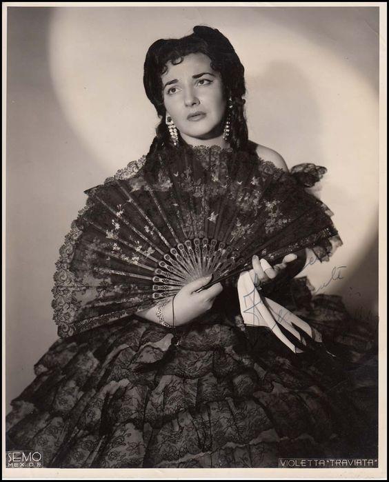 Maria Callas as Violetta in La Traviata by Giuseppe Verdi, Fenice, Venezia, 1947