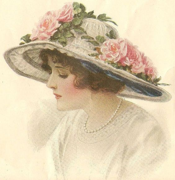 in-the-middle-of-a-daydream:    Roses on Hat by in pastel on Flickr