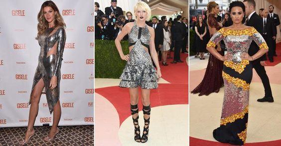 Gisele Bündchen, Taylor Swift ...metalizado conquista as estrelas em 2016! Saiba usar