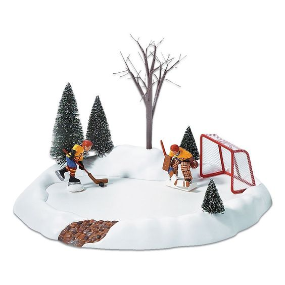 Department 56 Hockey Practice, Animated  S/3 * For more information, visit now : Decor Collectible Buildings and Accessories