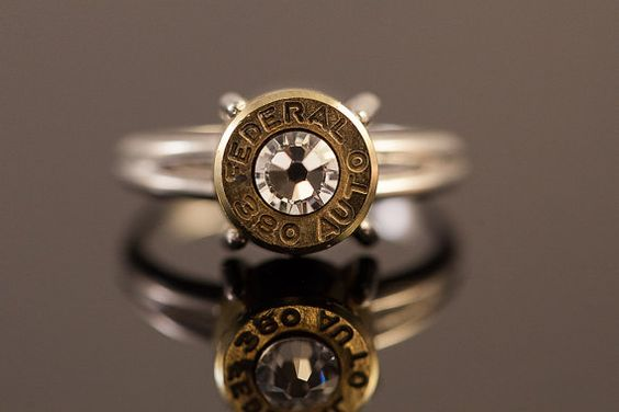 """Sterling Silver Bullet Ring-""""Bullet Lady""""-Size 7 or 8- Free Shipping"""