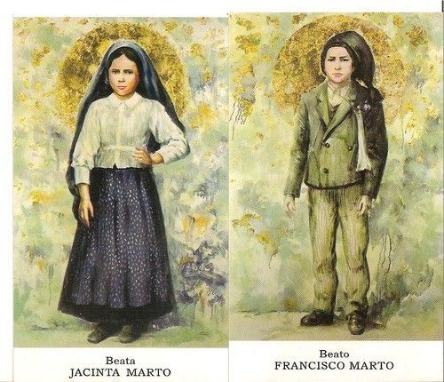 Bl.Jacinta and Francesco Marto. Fatima seers.