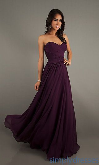 Strapless Floor Length Gown by Mori Lee 20411 at SimplyDresses.com....PLUM. But I don't love strapless dresses.