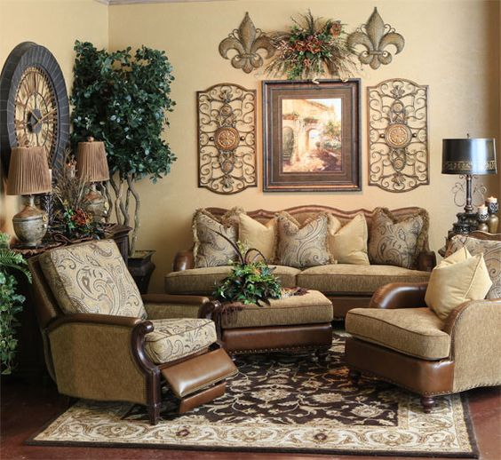 Tuscan for Tuscan inspired living room furniture
