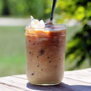 Homemade iced coffee recipe.  YUMMMMM!