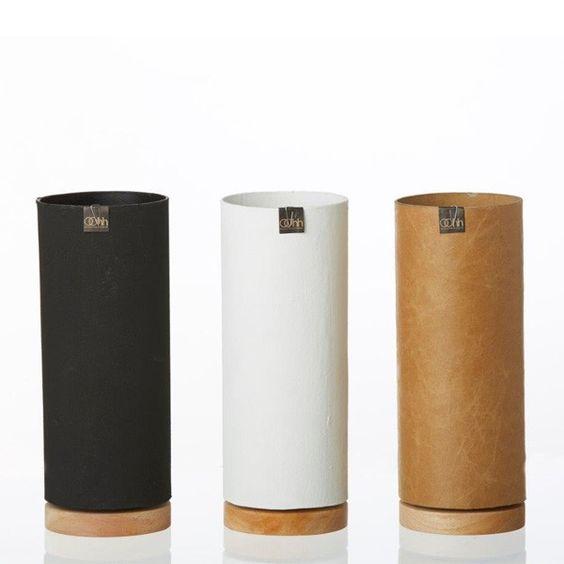 "OOhh - Recyclingvase - ""Vase on floating wooden bottom"" (large) | € 20,90"