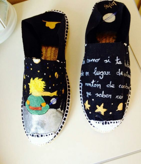 Zapatillas pintadas a mano del pricipito