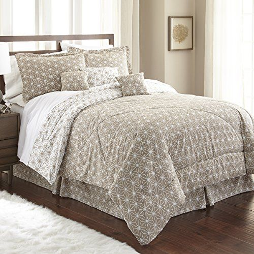 Spirit Linen Home Queen Taupe White Hotel 5th Ave Galaxy