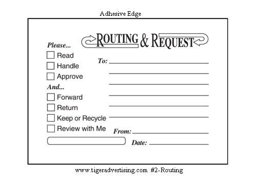 PostIt Custom Printed Routing Request Forms  Office