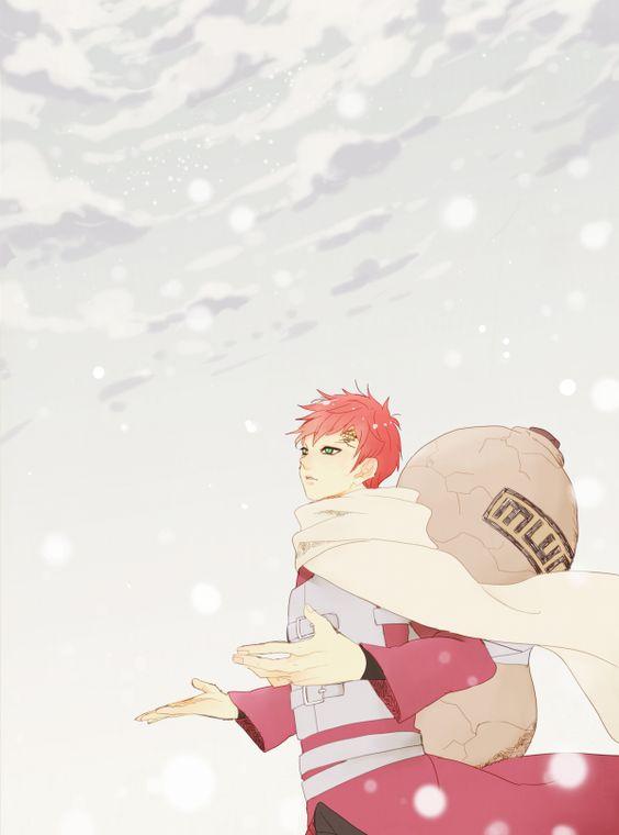 雪の中の我愛羅