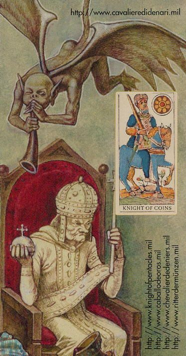 Knight of Coins - Tarot of the Third Millenium by Iassen Ghiuselev