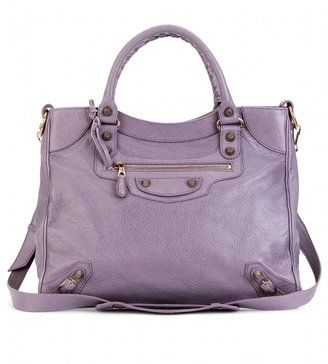Just WHY do I like so many expensive purses--like this gorgeous purple Balenciaga giant tote??