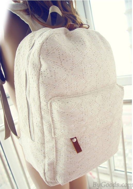 Lace backpack- I love this, but I feel like I would get it sooo dirty #TopshopPromQueen