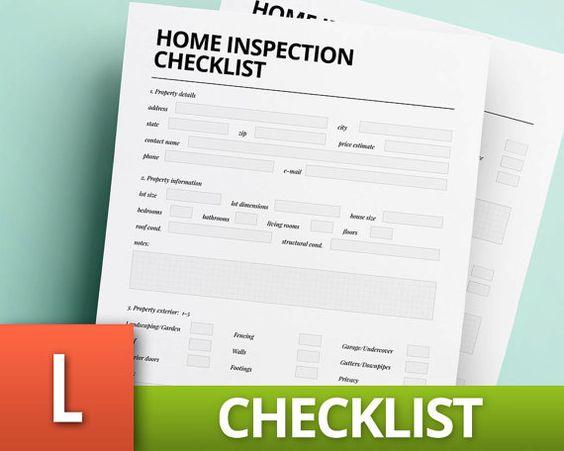 Resultado de imagen para ejemplos de formatos de inspecciones de - sample home inspection checklist