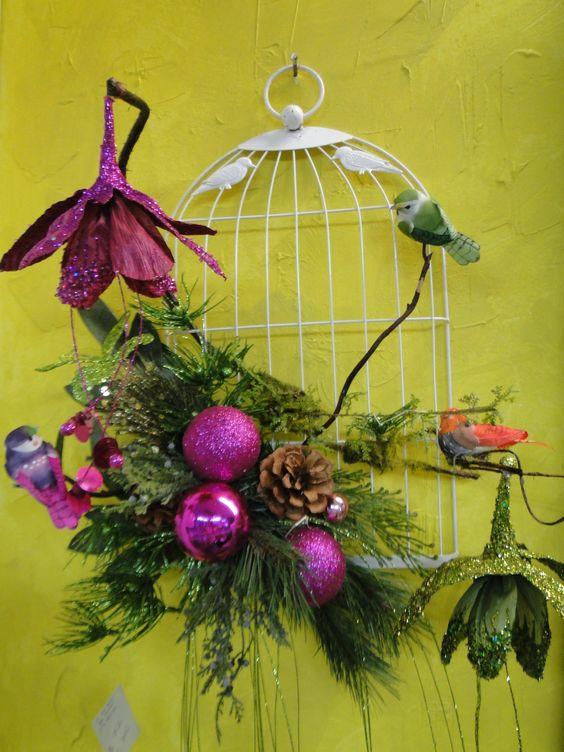 Christmas decorations 2013 Decoracion de Navidad 2013 Christmas Ornaments 2013 WWW.LACALENITA.COM WALL BIRDCAGE