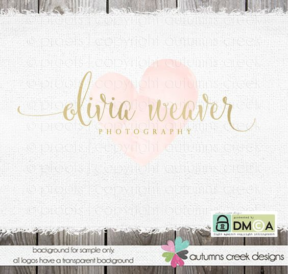 Photography Logo gold logo Premade Logo Text by autumnscreek